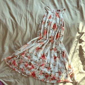 Cute Floral dress with open back🌸🌼